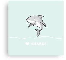 Love sharks/Great white buddy Canvas Print