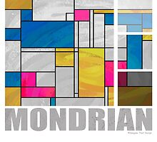 Mondrian Yellow Pink Blue  by Traci VanWagoner