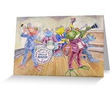 Froggy Band Greeting Card
