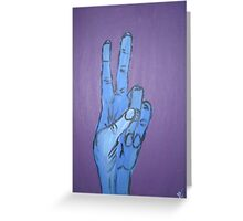 Hand Signs Series 1 - Peace Greeting Card