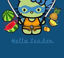 Hello Ninja Turtle Leader by scribbleworx