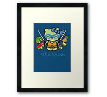 Hello Ninja Turtle Leader Framed Print
