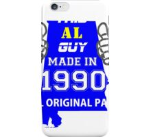 This Alabama Guy Made in 1990 iPhone Case/Skin
