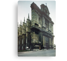 Facade Cathedral St Etienne Chalons sur Marne France 198405060039 Metal Print