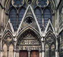 Open door to Cathedral St Etienne Chalons sur Marne France 198405060040 by Fred Mitchell