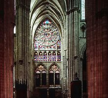 North Transept Cathedral St Etienne Chalons sur Marne France 198405060041 by Fred Mitchell