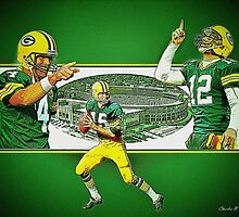 """Quarterbacks of Titletown"" by SteelCityArtist"