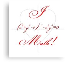 I Heart Math! Canvas Print