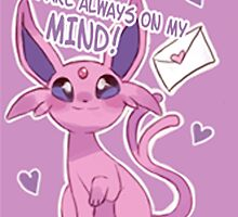 Espeon Love by CutestPikachu