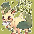 Leafeon Love by CutestPikachu