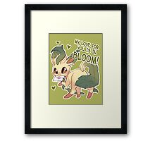 Leafeon Love Framed Print