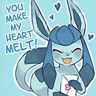 Glaceon Love by CutestPikachu