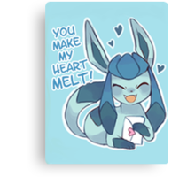 Glaceon Love Canvas Print