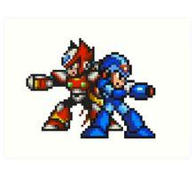Megaman X And Zero Art Print