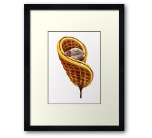Mouse In A Waffle Framed Print