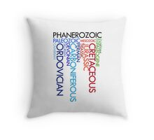 Phanerozoic aeons, eras, ages Throw Pillow