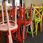 Colour coordinated chairs by indiafrank