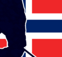 I Love Norge - Norway National Flag & Hockey Player Skjorte Sticker