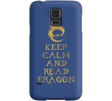 Keep calm and read Eragon (Gold text) Samsung Galaxy Case/Skin