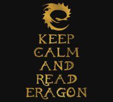 Keep calm and read Eragon (Gold text) Kids Clothes