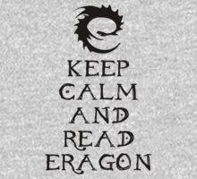 Keep calm and read Eragon (Black text) Kids Clothes