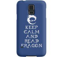 Keep calm and read Eragon (White text) Samsung Galaxy Case/Skin