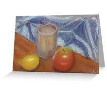 lemon apple still life Greeting Card