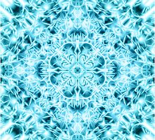 """Spirit of India: Snow-Fleur"" in turquoise and cyan by FireFairy"