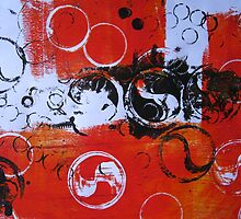 Water Series - Red Tides print by Heather Holland by Heatherian