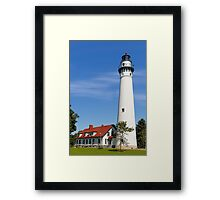 Wisconsin's Wind Point Lighthouse Framed Print