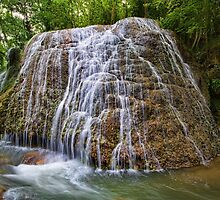 Stone River Waterfall by Unai Ileaña