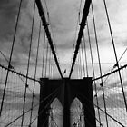 Black White New York Brooklyn Bridge nr 4 by silvianeto