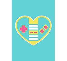 Retragamer - NES Controller Heart Photographic Print