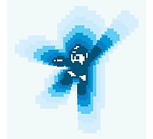 Mega man falling Photographic Print