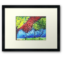 Serenity Park Two Stained Glass Framed Print