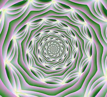 Pink and Green Vortex by Objowl