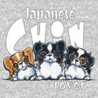 Japanese Chin Lover (Dark) by offleashart
