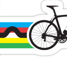 Bike Stripes World Road Race Champion (Heartbeat) Sticker