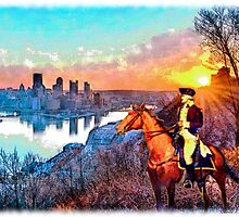 """Washington's Return To Pittsburgh"" by SteelCityArtist"