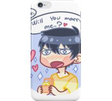 Marry me, water. iPhone Case/Skin