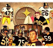 Pittsburgh Steelers Hall of Fame Defensive Legends by SteelCityArtist