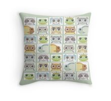 Portraits Of Animal Friends Throw Pillow
