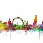 London England Skyline by Michael Tompsett
