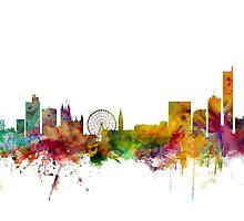 Manchester England Skyline by Michael Tompsett