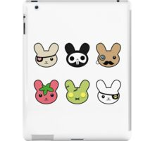 bunny faces - kawaii! iPad Case/Skin