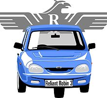 Reliant Robin 3 blue by car2oonz