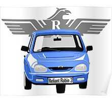 Reliant Robin 3 blue Poster