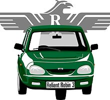 Reliant Robin 3 green by car2oonz