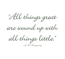 All things great are wound up with all things little by Amantine