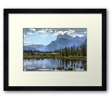 Vermillion Lake and Rundle Mountain Framed Print